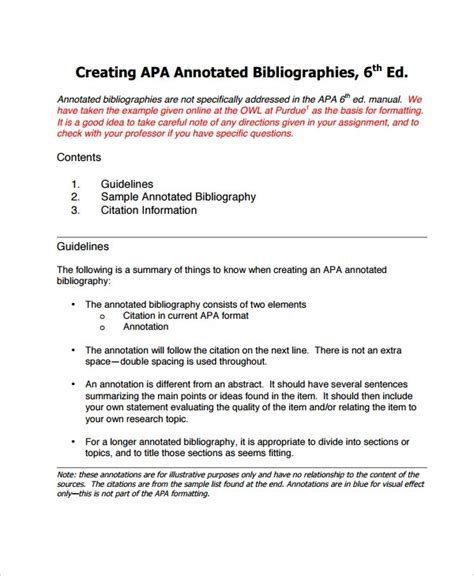 annotated bibliography  sample  format