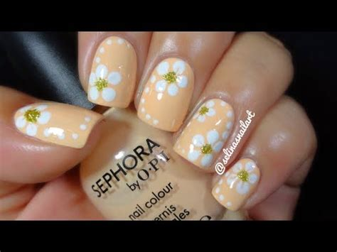 quick easy flower nail art tutorial selinas nail art
