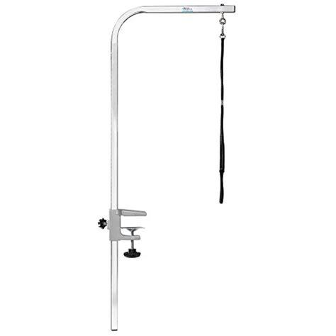 master equipment adjustable height grooming table pet edge master equipment silver aluminum pet grooming arm