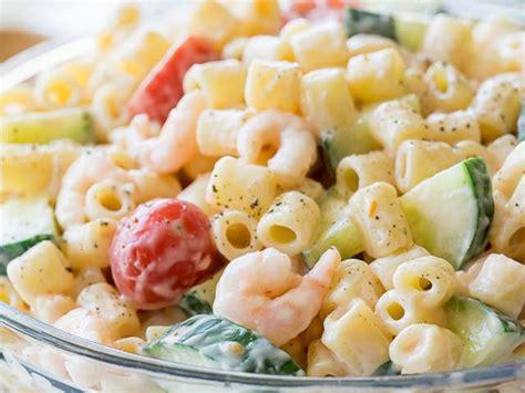 salade de pates recette recettes de salade de p 226 tes et crevettes