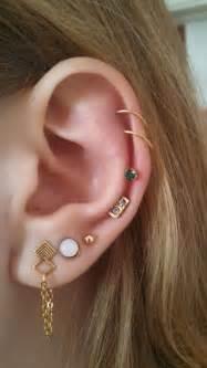 diamond helix stud 25 best ideas about ear piercings on