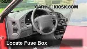 Interior Fuse Box Location  1995-2000 Dodge Avenger