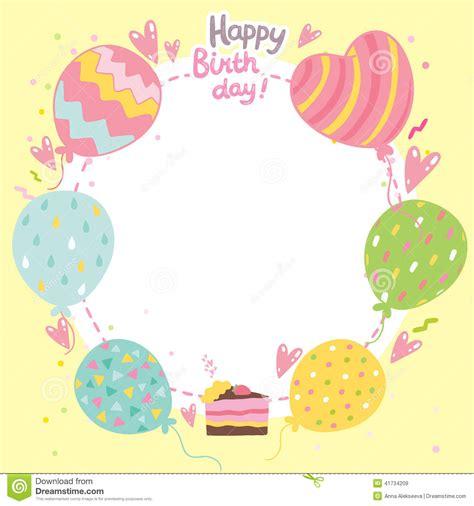 birthday blank template birthday card template