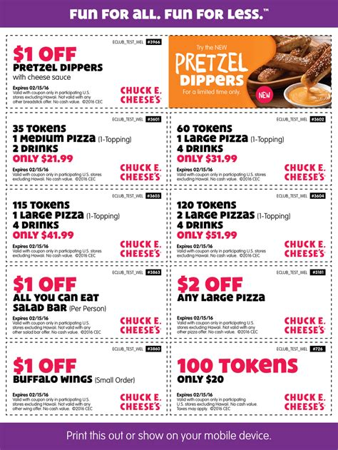 chuck  cheese march  coupons  promo codes