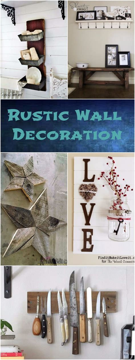 Wall Home Decor by Diy Rustic Wall Decoration Ideas Diy Home Decor