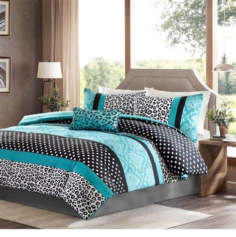 girls bedding set modern kids teen comforter aqua teal
