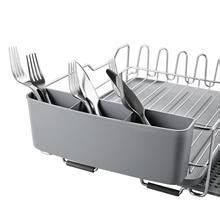 stainless steel dish drying rack  expandable  sink plate rack kingrack home