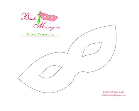 mask template kell studio carnival style paper mask