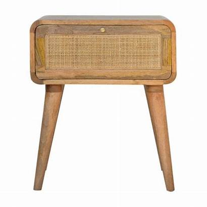 Bedside Woven Wood Solid Sadie Mango Drawer