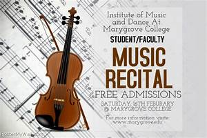Music Recital Poster Template | PosterMyWall