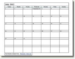 printable calendars easy  print