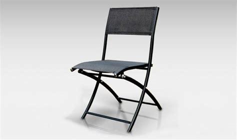 chaises de jardin pas cher chaise de jardin pliante alu textilene dcb noir mat