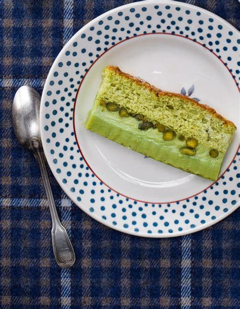 la cuisine de stephane gâteau magique à la pistache pour 6 personnes recettes à table