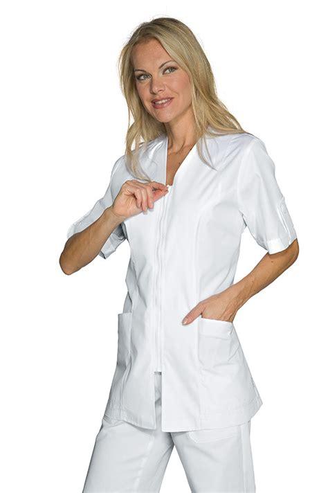blouse de cuisine femme pas cher tunique blanche médicale benidorm