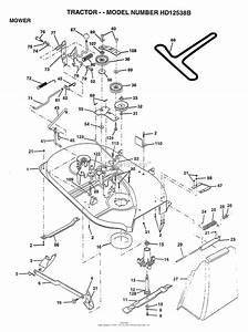 Ayp  Electrolux Hd12538b  1997  Parts Diagram For Mower