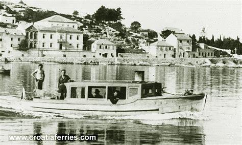 Ferry Boat Orebic Korcula foot passenger ferry from korcula to orebic 1960s