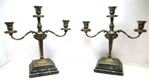 candelieri in argento candelieri usati in argento a tre fuochi con base in