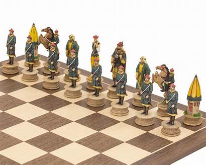 Chess Turkish Themed Pieces Hungarians Italfama Painted