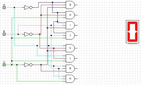 logic gates  segment display  decoder electrical
