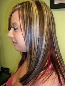 Chunky Caramel Highlights In Dark Brown Hair Hairs