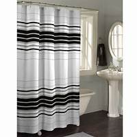 striped shower curtains Maytex Horizontal Stripe Fabric Shower Curtain - Free ...