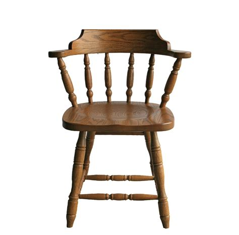 solid wood commercial dining captains chair