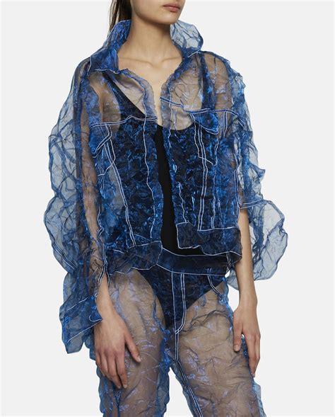 Faustine Steinmetz Transparent Denim Jacket in Blue Lyst