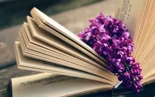 ni book read time flower flare purple wallpaper