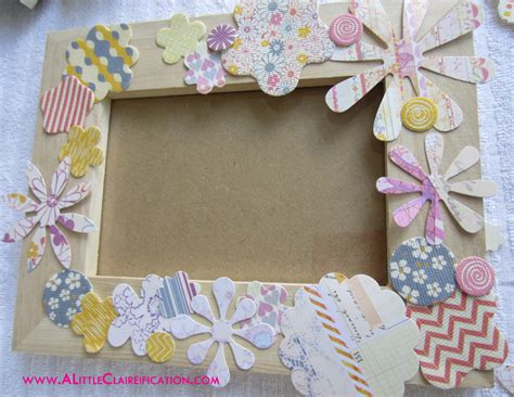 Diy Mod Podge Flower Frame