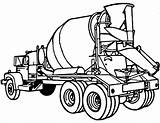 Concrete Mixer Coloring Cement Truck sketch template