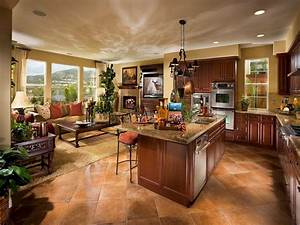 efficient open floor house plans open concept kitchen With kitchen design open floor plan