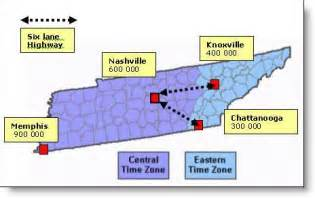 Nashville Tennessee Time Zone Map