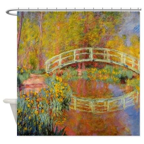 Monet Bridge At Giverny Shower Curtain By Fineartdesigns
