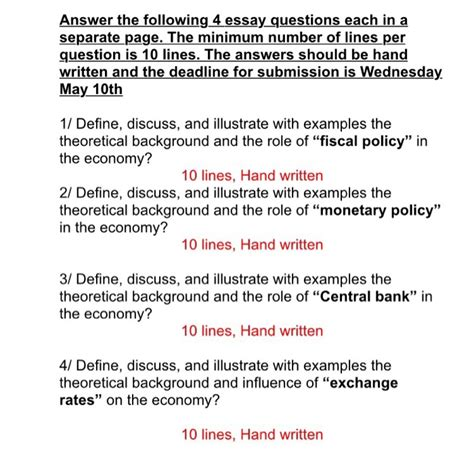 Define Answer by Economics Archive April 26 2017 Chegg
