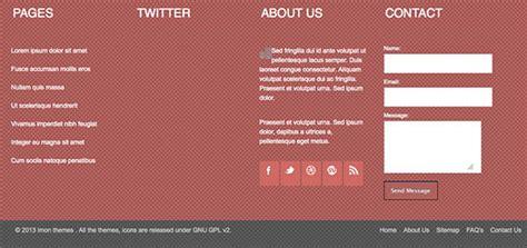 html footer template horus responsive html5 template creative beacon