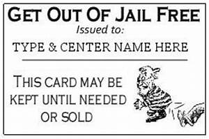 free card get out of jail free card template With get out of jail free card template
