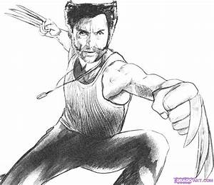 How To Draw Wolverine From X Men Origins Step By Step