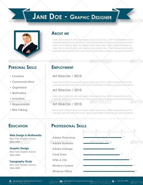 Adobe Indesign Cs5 Resume Templates by Indesign Resume Template By Carlos Fernando Graphicriver
