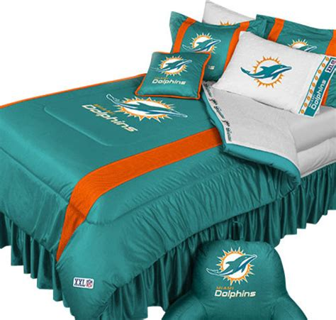 nfl miami dolphins football queen full bed comforter set