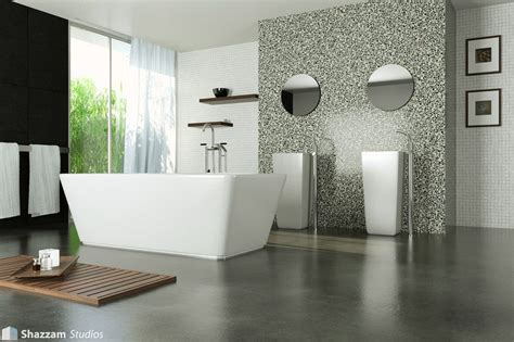 Bathroom Flooring Options Ideas by Modern Marble Bathroom And Concrete Floor Concrete