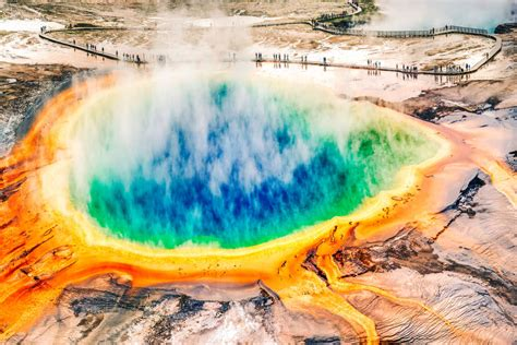 Grand Prismatic Spring, Explained: Why is the Hot Spring ...