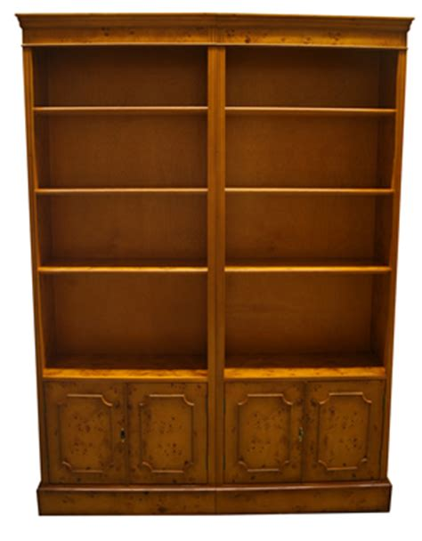 Modular Bookcase Uk by Quality Yew And Mahogany Reproduction Combination