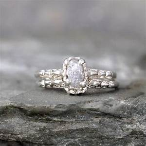 matching engagement ring and wedding band rough diamond With raw diamond wedding ring