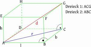 Sinusfunktion B Berechnen : wie berechnet man die raumdiagonale in einem quader mathe ~ Themetempest.com Abrechnung