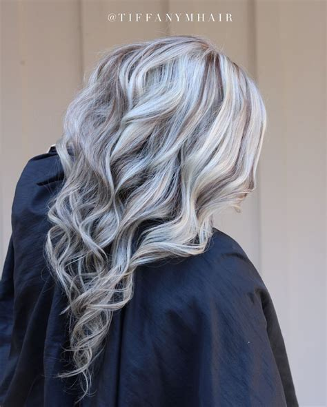 Hair With Lowlights Hairstyles by Image Result For White Hair With Grey Lowlights