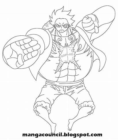 Luffy Gear Piece Draw Gambar Cara Menggambar