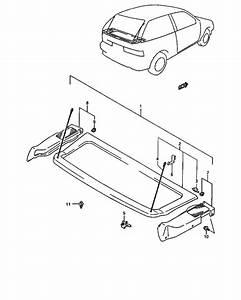 Rear Parcel Shelf For  Swift Sf413