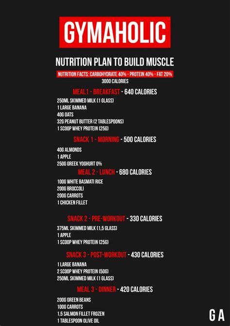 meal plan  lean muscle gain male diet plan