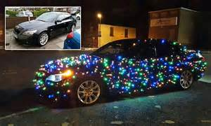 grandlite company christmas lights crewe father decks out his bmw five series with 1 000