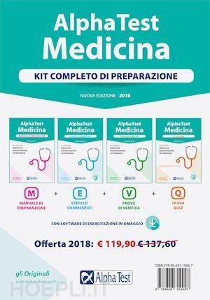 libro alpha test medicina prove alpha test medicina kit completo di preparazione 2018